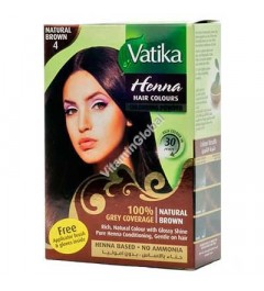 VATIKA HENNA HAIR COLEUR BROWN NATUREL N°4